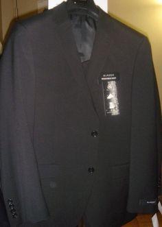 Black Blazer Suit Size 38 S Jacket 40 / 32 Pants Washable Wool Blend NWT New #Blazer #TwoButton