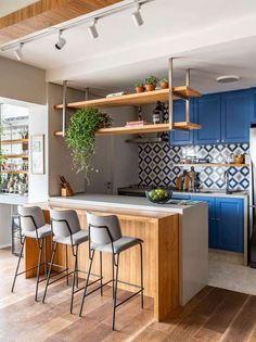 Dining Room Design, Interior Design Kitchen, Kitchen Decor, Kitchen Backsplash, Open Kitchen And Living Room, Home And Living, Latest Kitchen Designs, Kitchen Trends, Cuisines Design