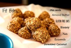 Fit Bites - The perfect pre/post-workout snack!! Filled with nutrients, protein, omegas, and SO delicious!