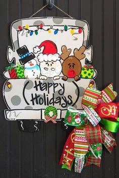 The Grouch Door Hanger Christmas Door Hanger ornament Custom Door Hangers, Wooden Door Hangers, Wooden Doors, Christmas Door, Merry Christmas, Christmas Houses, Christmas 2019, Christmas Ideas, Christmas Crafts