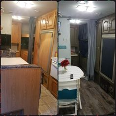 Camper Shells Near Me >> Before & After Camper/RV- Buy cabinet Stain from Home ...