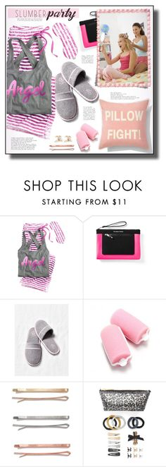 """""""Sleep on It! Slumber Party Style"""" by rosie305 ❤ liked on Polyvore featuring Victoria's Secret, Madewell, L. Erickson and slumberparty"""