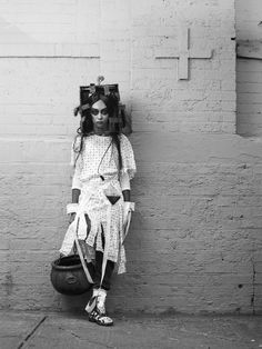 'Halloween in Brooklyn', A Series of Black And White Photography by Joey L. http://designwrld.com/halloween-brooklyn-joey-l/