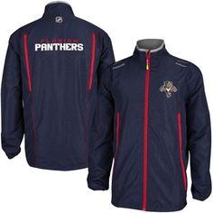 Mens Florida Panthers Reebok Navy Blue 2014 Center Ice Rink Jacket.