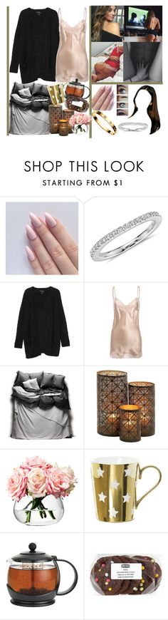 """""""cozy evening ☕️🍪"""" by momochen95 ❤ liked on Polyvore featuring Cartier, Blue Nile, Monki, Falcon & Bloom, Matteo, LSA International and BonJour"""