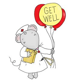 Free Dearie Dolls Digi Stamps: Get Well Mousie