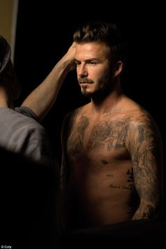 Shirtless David Beckham shows off his incredibly athletic physique for new fragrance campaign | Daily Mail Online