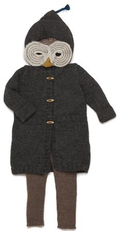Owl Mask  amp  Forest Coat  oeufnyc  kidsfashion www.oeufnyc.com Owl dbfcd3ec4a
