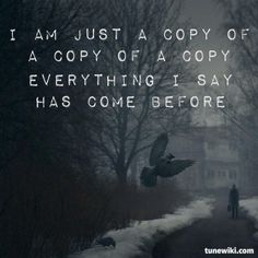 """-- #LyricArt for """"Copy Of A"""" by Nine Inch Nails"""