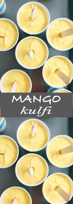 Creamiest mango kulfi ever! Made with fresh mangoes, saffron and cardamom, this mango kulfi recipe is better than any store bought mango ice cream and you do not need an ice cream maker. Mango Desserts, Frozen Desserts, Indian Desserts, Indian Sweets, Indian Dishes, Mango Recipes Indian, Easy Indian Dessert Recipes, Mango Kulfi, Mantecaditos