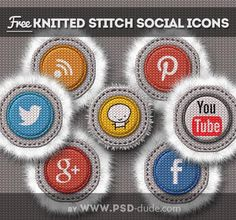 Stitched knitted social media icons free download Social Media Icons, Social Networks, Lightroom Tutorial, Post Date, Social Media Channels, About Me Blog, Stitch, Free, Tutorials