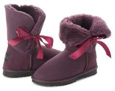 Betty Bow Burgundy Boots, Australian Made Sheepskin #aussie #australianmade #sheepskin #boots #comfy #shoesaholic #shortboots #bow #lace #cute #mood #burgundyboots #burgundy #purple #wine #styling #fashion #outfit #fashioninspiration