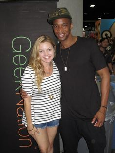 If you weren't at the @GeekNation booth 10 minutes ago, then you didn't see @ClareKramer and @jaugustrichards. #SDCC