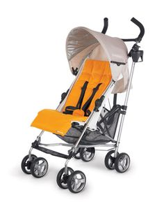 UPPAbaby G-LUXE Stroller: this color combo says it all!!!! orange is all the rage this year and the wheat canopy is the perfect summer neutral!
