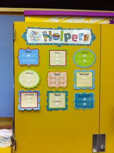 Judy K. put CTP's Our Class Helpers Mini Bulletin Board Set onto her filing cabinet!