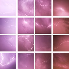 "A pinner writes ""48 Shades of Lightning  Taken from last night's thunderstorm. (color hues are unretouched)"""