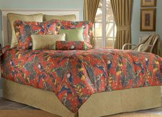 Bahamas by Victor Mill Luxury Bedding Tropical Bedding, Bed Ensemble, Linen Bedding, Bed Linens, Bed Styling, Bed Spreads, Comforter Sets, Luxury Bedding, Duvet Covers