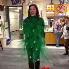 Ugliest+Christmas+Sweater+Contest | Tacky christmas party? Be a Christmas Tree!!!