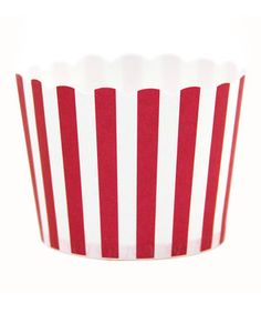 Look what I found on #zulily! Red Stripe Party Candy Cup - Set of 24 by Dress My Cupcake #zulilyfinds