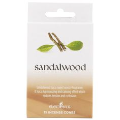 Wholesale Sandalwood incense cones by elements - Something Different