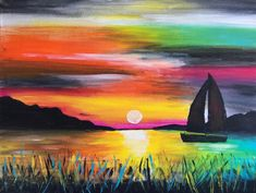 Paint Along - the new socialising with Creative Twist Entertainment Ideas, Paint Party, Corporate Events, Entertaining, Sunset, Night, Creative, Fun, Painting