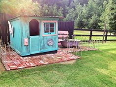 A original...Miss Ava now has her vintage shabby pallet princess playhouse wonderland :) Complete with her own garden