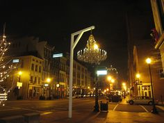 Chandelier outside of Proof, Louisville | Flickr - Photo Sharing!