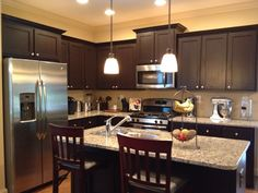 Painting Kitchen Cabinets Espresso Brown espresso kitchen cabinets, love them. not too crazy about the