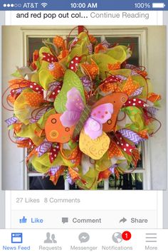 Deko ribbon wreath