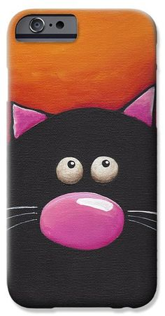 Another Chilling Cat iPhone 6 Case by Lucia Stewart