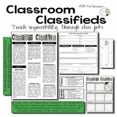 Use Classroom Classifieds to start your school year right! Have students apply for classroom jobs and watch your students blossom as they develop responsibility and take pride in their classroom. This bundle includes everything you need to implement in your class today!
