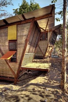eco homes thailand...The houses are raised off the ground, set on four foundations cast in old tires, eliminating the problem of excessive moisture and resulting rot. Photography by Pasi Aalto