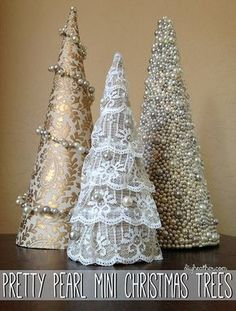 Pretty Pearl Mini Christmas Trees