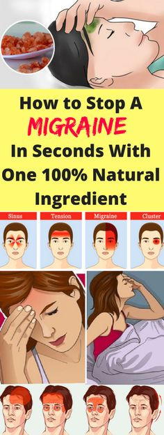How to Stop A Migraine In Seconds With One 100% Natural Ingredient - infacter