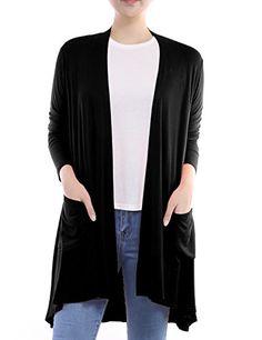 8b7ddd4379 The perfect BIADANI Women Long Sleeve Classic Lightweight Open Front High  Low Drape Cardigan online.