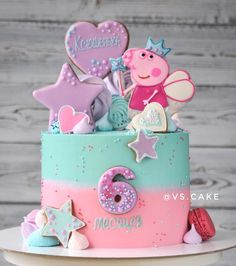 Cake Peppa Pig is actually a English toddler super-hero television set collection focused as well Peppa Pig Birthday Decorations, Peppa Pig Birthday Cake, Birthday Cake Girls, 3rd Birthday Parties, Princess Peppa Pig Party, Special Birthday, 2nd Birthday, Birthday Ideas, Tortas Peppa Pig