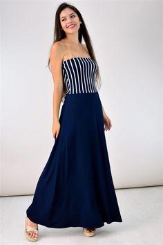 Potre – Strapless φόρεμα Strapless Dress Formal, Formal Dresses, Summer Dresses, Collection, Fashion, Dresses For Formal, Moda, Formal Gowns, Summer Sundresses