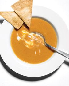 Sweet potato and chipotle soup, one of my favorites. This version by Martha Stewart is as close to the kind I tasted in a New York Pret A Manger years ago.