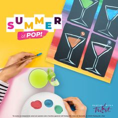 """After work we hit the GIN! Painting with a Twist is hosting Summer of Pop events this summer to celebrate all things pop culture! Feeling nostalgic for the 80s and 90s? Take a trip down memory lane and paint some throwbacks of your favorite artists, bands and sitcoms of the decades! Rather live in the moment? Check out modern day pop culture paintings like the Quarantini or """"Tiger Royalty"""". No matter what you choose, we're sure you'll have a blast! Having A Blast, Paint Party, Art Therapy, Beautiful Paintings, House Painting, Own Home, Gin, Pop Culture, Royalty"""