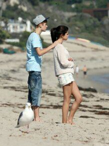 Justin Bieber and Selena Gomez in Malibu. September 2011.
