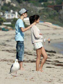 Justin Bieber and Selena Gomez in Malibu. September 2011.
