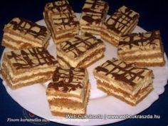 Finom karamellás sütemény Waffles, Deserts, Breakfast, Cake, Food, Caramel, Hungary, Morning Coffee, Kuchen