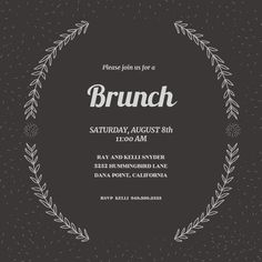 97 best brunch lunch invitations images on pinterest in 2018