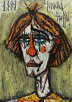 Bernard Buffet - né en 1928 - Clown triste