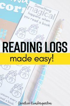Use these bookmarks as an easy, no-prep homework challenge. Add them to your home reading program to make tracking their progress easy, or just a fun challenge to get students reading. #homereading #readinglog #creativekindergarten