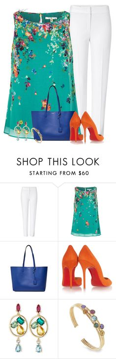 """""""Colorful Business"""" by tayswift-1d ❤ liked on Polyvore featuring ESCADA, Uttam Boutique, Yves Saint Laurent, Christian Louboutin, Oscar de la Renta and Marco Bicego"""