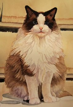 Deb Watson shows how to paint long fur with watercolor