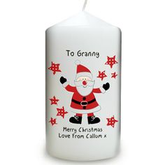 Personalised Christmas Candle - Spotty Santa  from Personalised Gifts Shop - ONLY £9.99