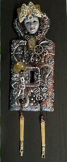 Steampunk Switchplate Red1