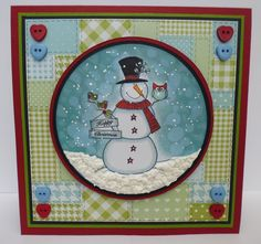 Designed by Diane Christmas Scrapbook, Christmas Crafts, Christmas Ideas, Clear Stamps, Claire, Snowman, Projects To Try, Paper Crafts, Frame